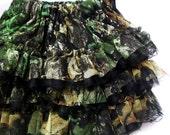 Girls Realtree Camo Ruffled Pettiskirt - Tutu Skirt - RealTree Mossy Oak Obsession Camouflage Skirt