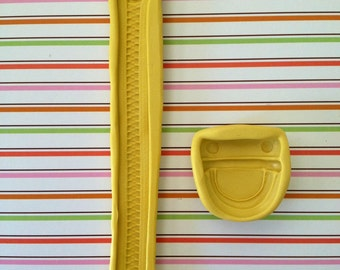 Set of Zipper and purse / wallet Buckle Food Grade Silicone Molds- 2 molds in all