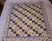 New Born Teddy Baby Quilt Top or Wall Hanging