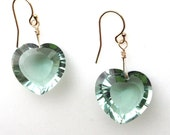 show-stopping green amethyst heart-shaped briolette earrings