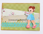 I Heart You Girl - Congratulations Handmade Greeting Card