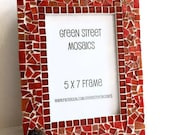 Mosaic Picture Frame, Wall Frame, 5 x 7 - Red