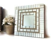Mosaic Mirror, Wall Art, Mirror Tiles
