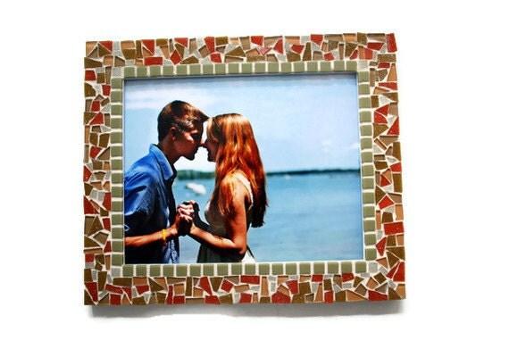 Orange Mosaic Frame 8x10