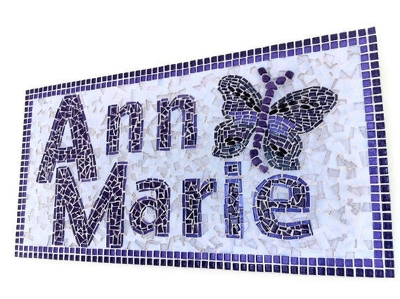 Personalized Name Mosaic, Family Name Sign
