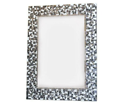 Gray Mosaic Mirror, Wall Art