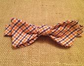 Clemson: Orange and Purple Men's Adjustable Cotton Bowtie