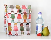 Lunch Bag: Retro Dolly - Washable