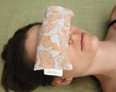 Yoga Meditation Spa Eye Pillow, Orange Ginkgo, Eco Friendly, Washable Shell.