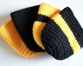 Mason Jar Cozies - Set of 4 - Iowa Colors - Black and Gold