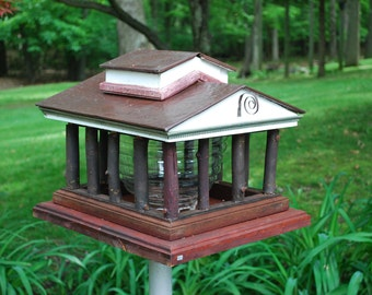 the Greek temple bird feeder - PRICE REDUCED!