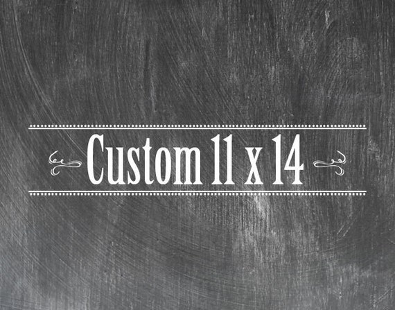 Custom 11 x 14 Chalkboard Look Print
