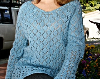 Hand Knitted Women's Sweater. Currently 20% off and  Free Shipping.