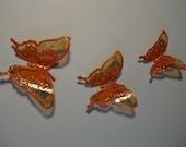 Decorative Butterflies Upcycled Plastic Bottle Art