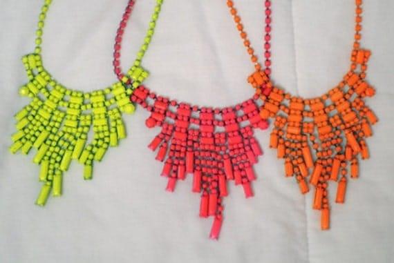 Custom Order for Cat - 2 Bib Necklaces