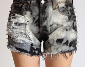 SALE Cone Studded High Waisted Levis The Smoker Shorts