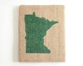 Burlap Frame - Green Minnesota