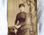 Antique Photo Cabinet Card Woman Pittsburgh