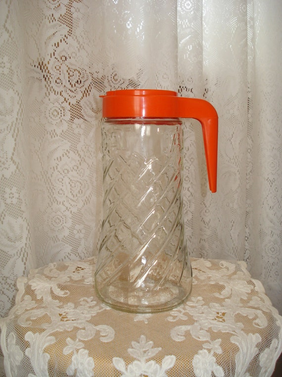 Vintage Tang Glass Pitcher  Anchor Hocking