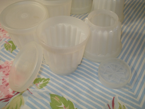Vintage Tupperware Jello Molds Set of Six