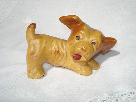 Vintage Chalkware Puppy Dog Figurine