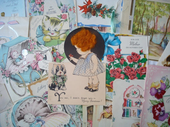 Reserved for Rosemary    Vintage Greeting Card Lot 1940s 20 Cards