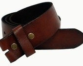 Leather Snap Belt - Full Grain - Coffee Color