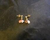 Stone Bear Post Earrings