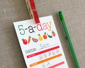 Healthy Eating Chart for Kids - 5-a-day - Printable