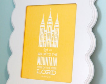 LDS Temple Print - Mountain of the Lord - Printable PDF File