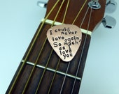 Hand Stamped Copper Guitar Pick - Personalized- Men - Women - Unisex
