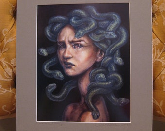 """Medusa - Print of Original Painting, matted to 11"""" x 14"""""""