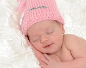 Ready to Ship - Bundle of Love - Baby Girl Hat - Size Newborn to 4 weeks - One of a Kind