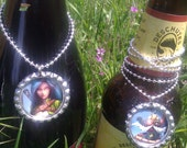 Custom Wine Bottle Charms Set of 10