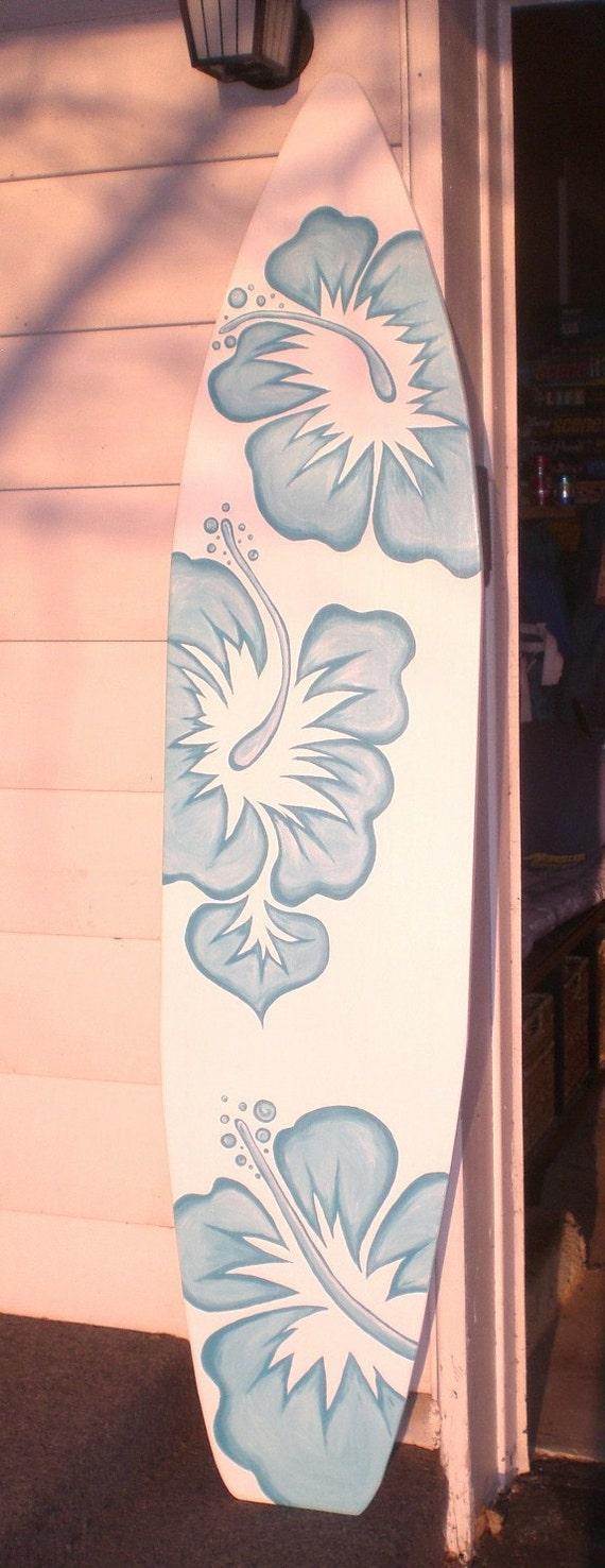 Foot Wood Hawaiian Surfboard Wall Art Decor Headboard