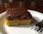 Yellow Cake with Chocolate Frosting soap