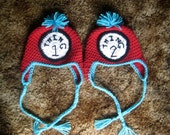 Crocheted Thing 1 & Thing 2 Hats- Sizes Newborn to 12 mos (Larger sizes upon request)