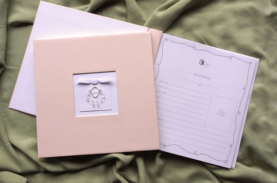 Pink Baby Girl Memory Book - Baby Album, Photo Book & Journal -  Lamb Charm