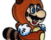 Super Mario Tanooki Iron On Patch
