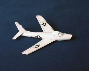 Paper Model of a Sabre jet