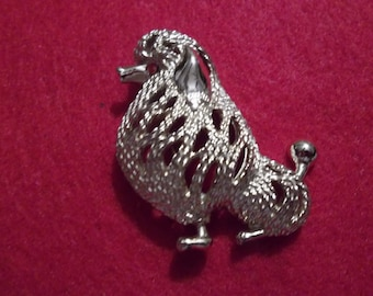 Sarah Coventry Poodle Brooch