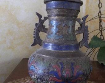 19th Century Champleve Vase