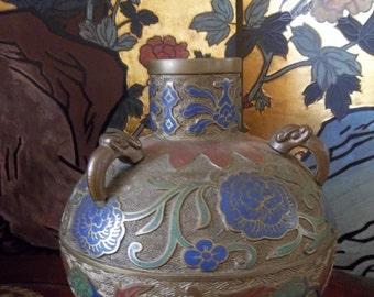 1900's Champleve vase