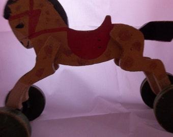 Handmade Horse Pull Toy