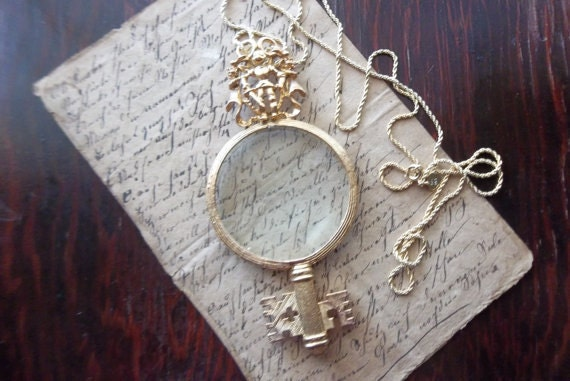 Magnifying Glass Pendant Reserved For Eugenia