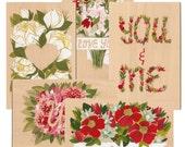 Wooden Valentines Card set