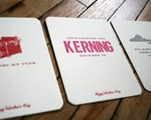 The Designer's 3-Pack of Letterpress Valentine's Day Cards