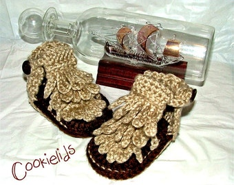 Crochet Baby Moccasin Sandals with fringe
