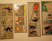 Set of 4 Recycled Tintin Comic Bookmarks