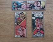 Set of 3 Recycled Thundra Vs. The Thing Comic Strip Bookmarks.